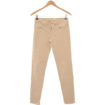 Vêtements Femme Pantalons 5 poches Zara Pantalon Slim Femme  36 - T1 - S Beige