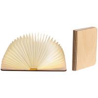 Maison & Déco Lampes à poser Retro Lampe livre Taille L en bois véritable Erable Beige