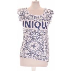 Vêtements Femme T-shirts manches courtes Etam Débardeur  36 - T1 - S Bleu