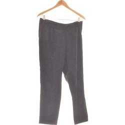 Vêtements Femme Pantalons fluides / Sarouels Camaieu Pantalon Droit Femme  40 - T3 - L Bleu