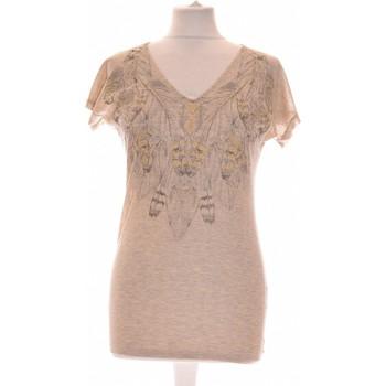 Vêtements Femme Tops / Blouses Etam Top Manches Courtes  34 - T0 - Xs Marron