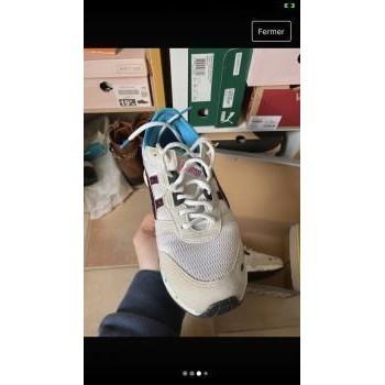 Chaussures Enfant Baskets basses Asics Asics hypergel lyte GS Blanc