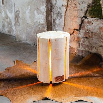 Maison & Déco Lampes à poser Retro Wood Light - Bois de cerisier Taille M - Eco-Friendly Beige