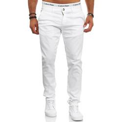 Vêtements Homme Chinos / Carrots Monsieurmode Pantalon chino pour homme Chino 3269 blanc Blanc