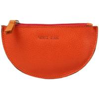 Sacs Femme Porte-monnaie Patrick Blanc Porte monnaie demi rond plat  cuir Orange / Noir Multicolor