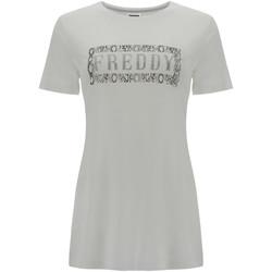 Vêtements Femme T-shirts manches courtes Freddy S1WALT2 Blanc