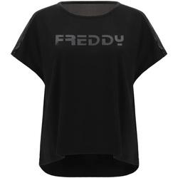 Vêtements Femme T-shirts manches courtes Freddy S1WTBT3 Noir