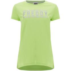 Vêtements Femme T-shirts manches courtes Freddy S1WCLT2 Vert
