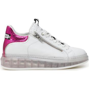 Chaussures Femme Baskets basses Café Noir DE1310 Blanc