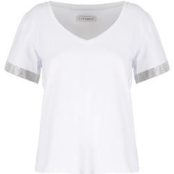 Vêtements Femme T-shirts manches courtes Café Noir JT6490 Blanc