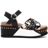 Chaussures Femme Sandales et Nu-pieds Café Noir HH1390 Noir