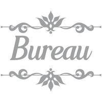 Maison & Déco Stickers Retro Sticker décoratif de porte BUREAU Gris