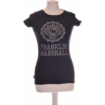 Vêtements Femme Tops / Blouses Franklin & Marshall Top Manches Courtes  34 - T0 - Xs Bleu