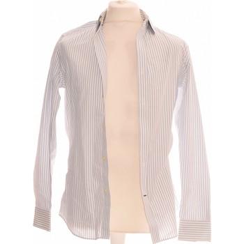 Vêtements Homme Chemises manches longues Banana Republic Chemise Manches Longues  36 - T1 - S Blanc