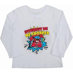 Vêtements Enfant T-shirts manches longues Interdit De Me Gronder TELEPHONE Blanc