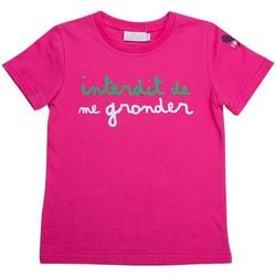 Vêtements Enfant T-shirts manches courtes Interdit De Me Gronder CUP Fuschia