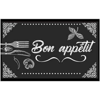 Maison & Déco Tapis Retro Tapis de cuisine 60 x 40 cm - Dessous PVC Noir
