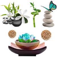 Maison & Déco Plantes artificielles Zen Et Ethnique Stickers Muraux Zen - Spa Vert