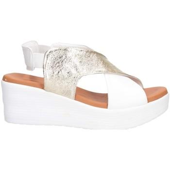 Chaussures Femme Sandales et Nu-pieds Hersuade 1600 Sandales Femme PLATINE / BLANC PLATINE / BLANC