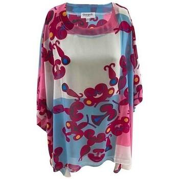Vêtements Femme Tout accepter et fermer Georgedé Tunique Marina en Mousseline Imprimée Multicolore
