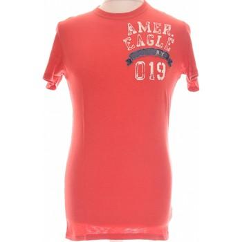 Vêtements Homme T-shirts manches courtes American Eagle Outfitters T-shirt Manches Courtes  36 - T1 - S Rouge