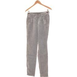 Vêtements Femme Pantalons fluides / Sarouels Et Compagnie Pantalon Droit Femme  34 - T0 - Xs Gris