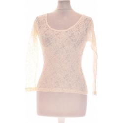 Vêtements Femme Tops / Blouses Jacqueline Riu Top Manches Longues  38 - T2 - M Blanc