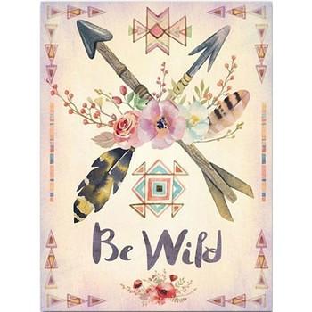 Maison & Déco Tableaux, toiles Indiens D'amérique Cadre en toile Collection Apache - Be Wild Beige