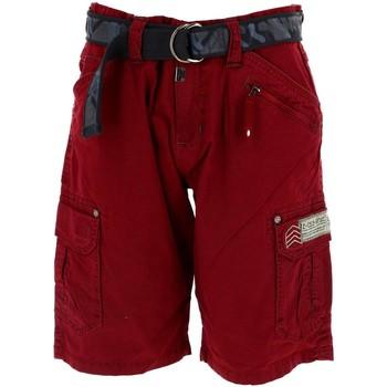 Vêtements Homme Shorts / Bermudas Timezone Riker rouge short Rouge