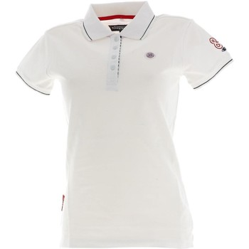 Vêtements Femme Polos manches courtes Happy And So Marin wht mc polo lady Blanc