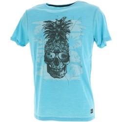 Vêtements Homme T-shirts manches courtes La Maison Blaggio Modene sky mc tee Bleu ciel