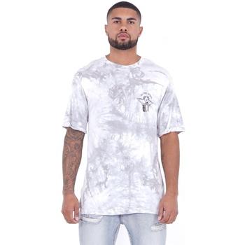 Vêtements Homme T-shirts manches courtes Sixth June T-shirt  Custom Tie Dye blanc/rose