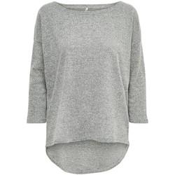 Vêtements Femme T-shirts manches longues Only T-shirt femme  Alba manches 3/4 light grey melange