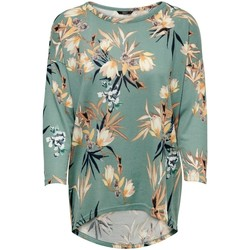 Vêtements Femme T-shirts manches longues Only T-shirt femme  Elcos manches 4/5 chinois green flowers coll1 ss19