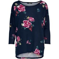 Vêtements Femme T-shirts manches longues Only T-shirt femme  Elcos manches 4/5 night sky tinna flower