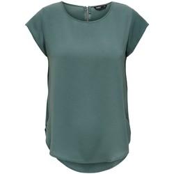 Vêtements Femme T-shirts manches courtes Only T-shirt femme  manches courtes Vic solid balsam green