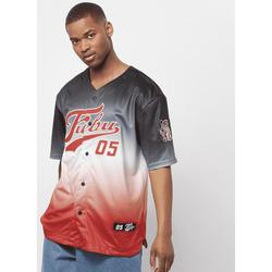 Vêtements Homme T-shirts manches courtes Fubu Maillot  Varsity Baseball noir/blanc/rouge