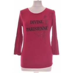 Vêtements Femme Tops / Blouses Un Jour Ailleurs Top Manches Longues  34 - T0 - Xs Rose