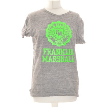 Vêtements Femme Tops / Blouses Franklin & Marshall Top Manches Courtes  36 - T1 - S Gris