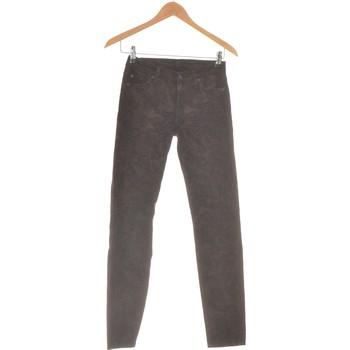 Vêtements Femme Pantalons 5 poches 7 for all Mankind Pantalon Slim Femme  34 - T0 - Xs Marron