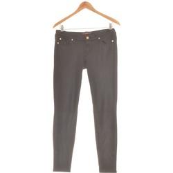 Vêtements Femme Pantalons 5 poches 7 for all Mankind Pantalon Slim Femme  38 - T2 - M Noir