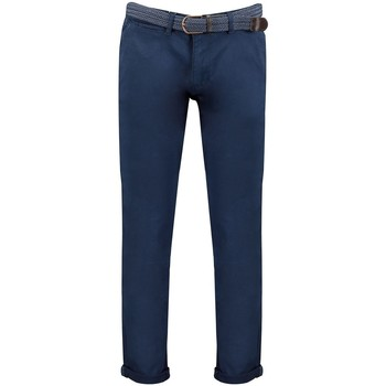 Vêtements Homme Chinos / Carrots Geographical Norway Pantalon Homme Plageo Pant Bleu