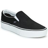 Chaussures Femme Slip ons Vans CLASSIC SLIP-ON PLATFORM Noir / Blanc
