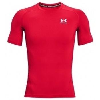 Vêtements Homme T-shirts manches courtes Under Armour Heatgear Armour Short Sleeve rouge