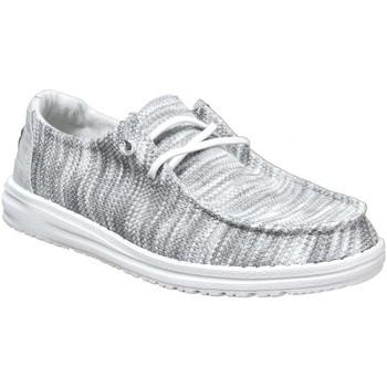 Chaussures Femme Derbies Dude Wendy sox Blanc/Gris