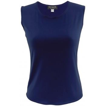Vêtements Femme Tout accepter et fermer Georgedé Top Victoria Sans Manche en Jersey Marine Bleu