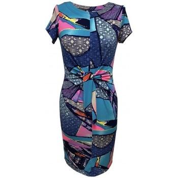 Vêtements Femme Robes Georgedé Robe Alexane en Jersey Imprimé Abstrait Multicolore