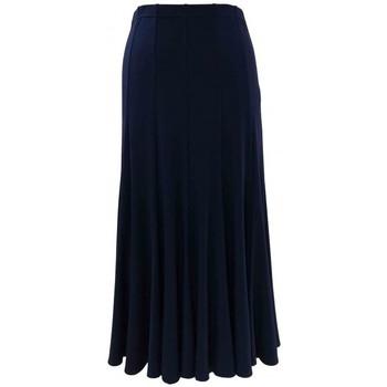 Vêtements Femme Jupes Georgedé Jupe Demi en Jersey Marine Longue Bleu