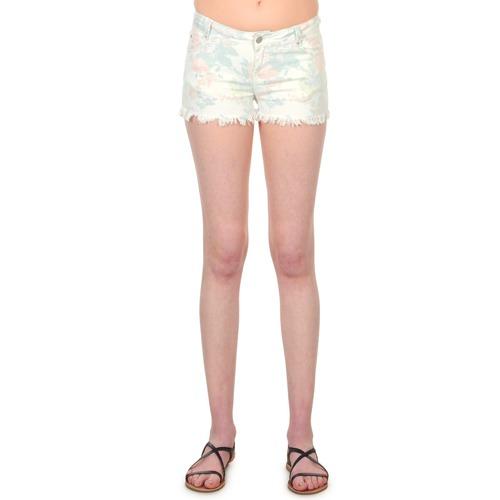 SELENA FLOWERS  School Rag  shorts / bermudas  femme  blanc imprimã© fleuri