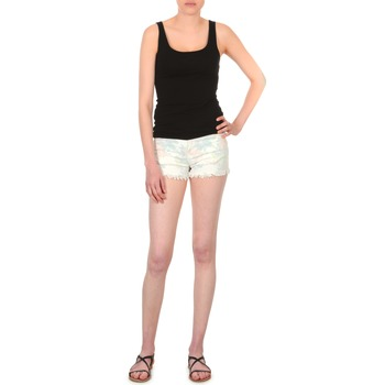 Shorts & Bermudas School Rag SELENA FLOWERS Blanc imprimé fleuri 350x350